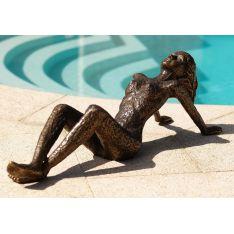 """FEMME AU SOLEIL "" Bronze L 82 cm"