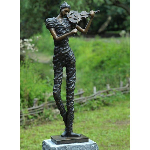 """VIOLONISTE 2"" Bronze H 95 cm"