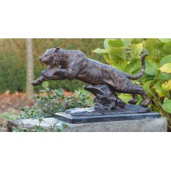 """TIGRE "" Bronze L 60 cm"