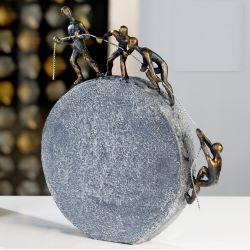 """Sculpture """"Tous pour un """" H 35.5cm"""