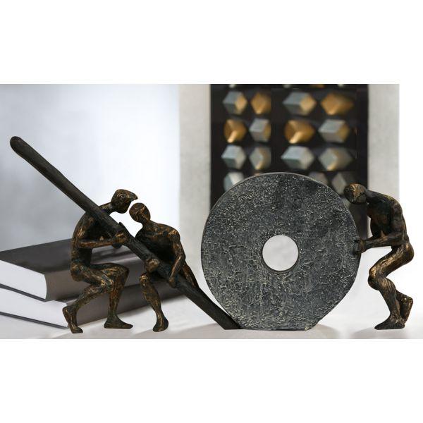 """Sculpture """"Entraide"""" L 46 cm"""
