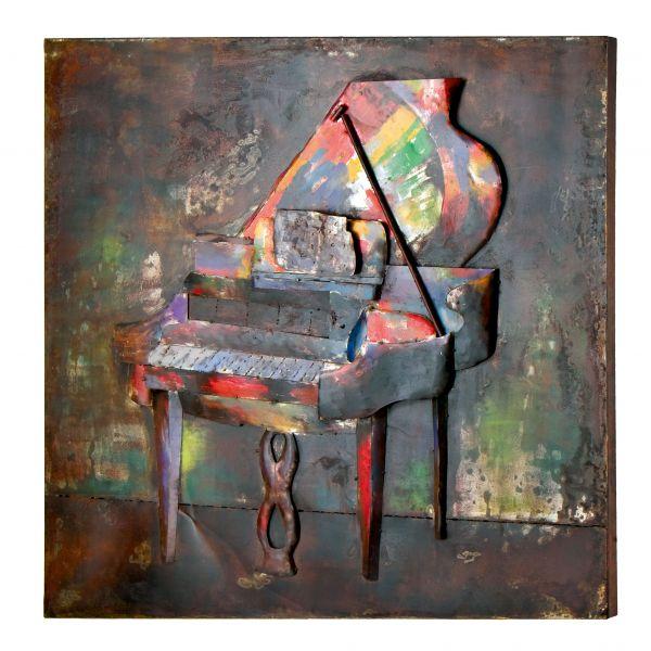 """PIANO"" Toile métal L120 X H 120 cm"