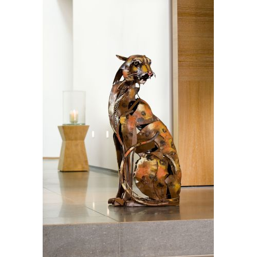 """""""GUEPARD  """" Sculpture métal H 90 cm"""