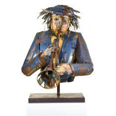 """""""TROMPETTE """" Sculpture métal H 70 cm"""