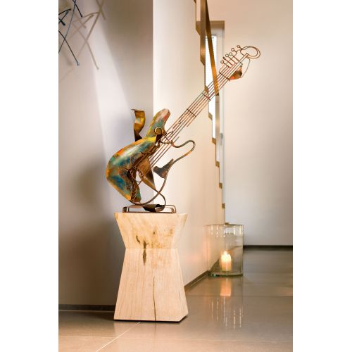 """GUITARE"" Sculpture métal H 80 cm"