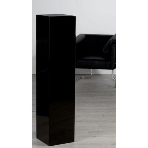 Colonne bois lustré brillant Noir H 120 cm TGM
