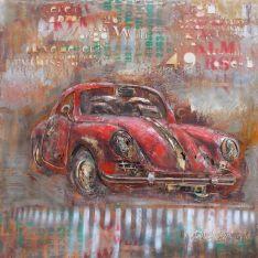 "Plaque métal ""SPORT CAR""  100 x 100 cm"