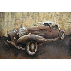 """Plaque métal """"Vintage Rolls""""  80 x 120 cm"""