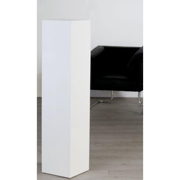Colonne bois lustré brillant Blanc H 120 cm TGM