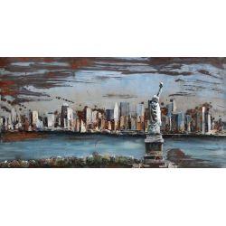 """Plaque métal """"Statue de Liberté NYC"""" 60 x 120 cm"""