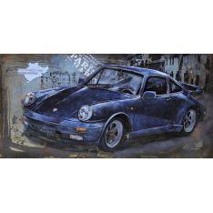 """Plaque métal """"PORSCHE"""" 60 x 120 cm"""