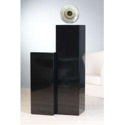 Colonnes bois lustré brillant Noir H 70 cm ou 100 cm