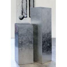 Colonnes Fibre de verre argenté H 70 cm et H 100 cm