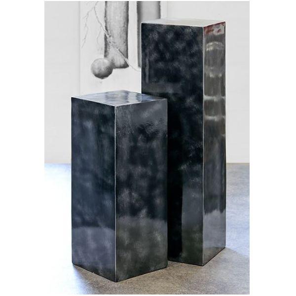 Colonnes Fibre de verre coloris graphite H 70 cm et H 100 cm