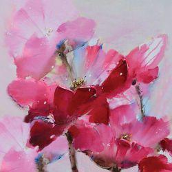 """Toile """"Tout en Rose""""  60 x 60 cm"""