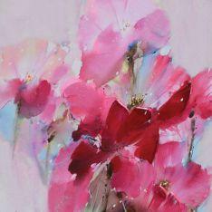 """Toile """"Tout en Rose 2""""  60 x 60 cm"""