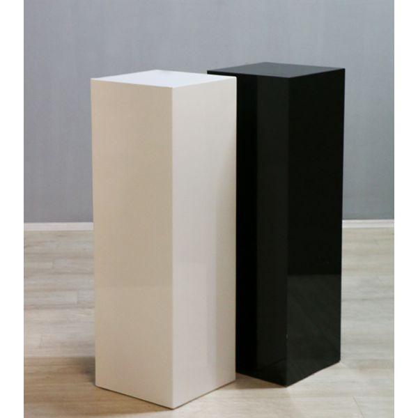 Colonnes bois lustré brillant Blanc ou noir H 110 cm