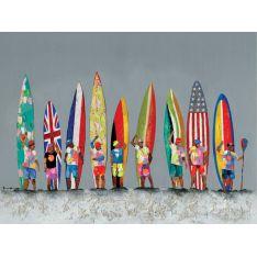 """Toile """"Babel Surf """"  90 x 120 cm"""