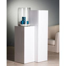 Colonnes bois lustré brillant Blanc H 70 cm et H 100 cm