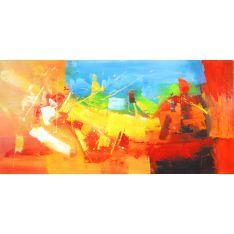 """Toile GLOSS """"UN COIN DE CIEL """"  75 x 150 cm"""