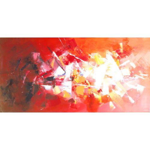 """Toile GLOSS """"TOUT FEU TOUT FLAMME """"  75 x 150 cm"""