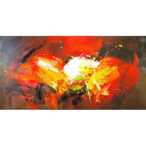"""Toile GLOSS """"FEU AU COEUR """"  75 x 150 cm"""