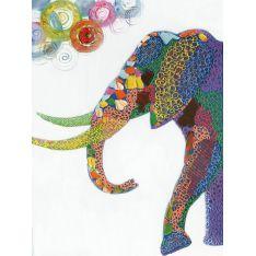 "Toile ""ELEPHANTIS""  90 x 120 cm"