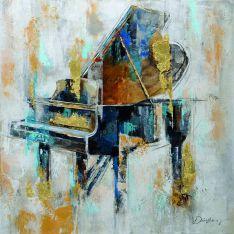 """Toile """"Piano""""  80 x 80 cm"""