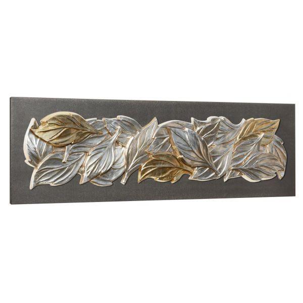 """""""FEUILLES D'HIVER""""  toile relief 160 x 50 cm"""
