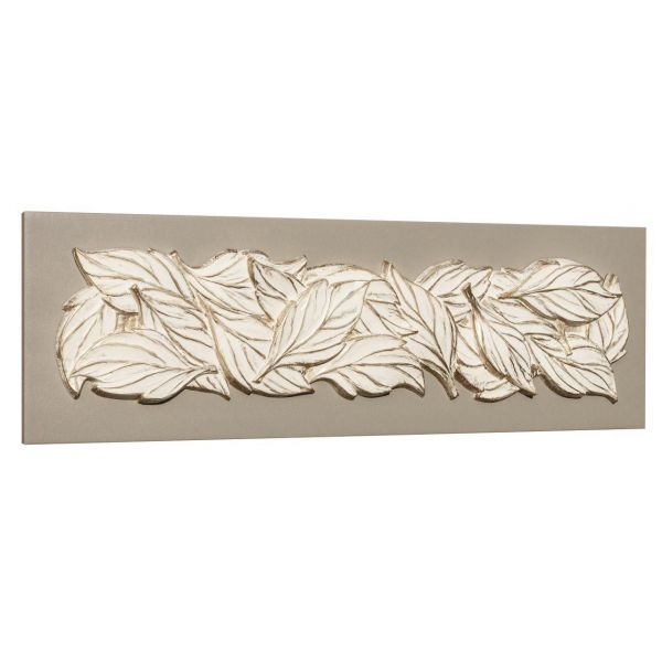 """""""FEUILLES DE GLACE""""  toile relief 160 x 50 cm"""
