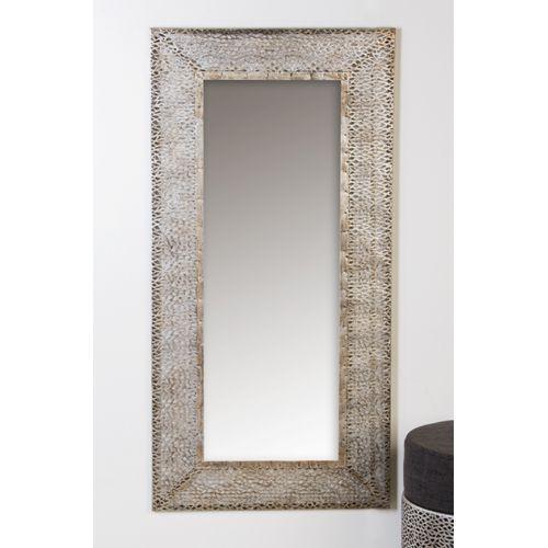 Miroir perle en m tal h 120 cm peyroles for Miroir 120 cm
