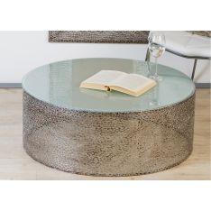 Table Basse  Perle en métal   D 80 CM