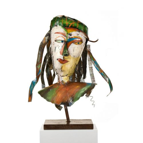 """MASCARADE SOLO"" Sculpture métal H 71 cm"
