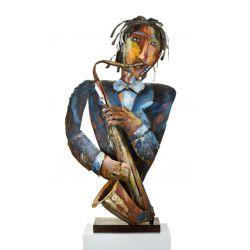 """""""SAXO """" Sculpture métal H 92 cm"""
