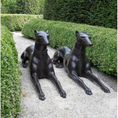 """COUPLE DOBERMANNS"" Bronze L120cm"