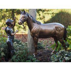"""""""COMPLICITE FILLE & CHEVAL"""" Bronze"""