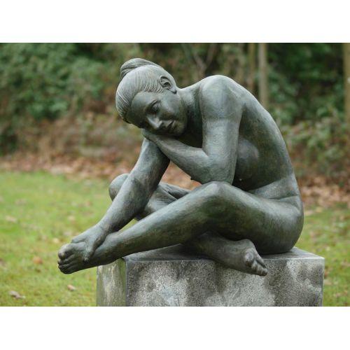 """""""FEMME NUE REVEUSE"""" Bronze H 80 cm"""