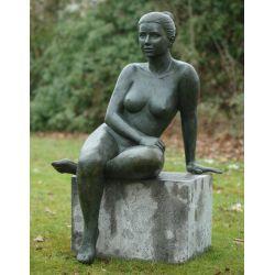 """FEMME CONTEMPLATIVE"" Bronze H 120 cm"