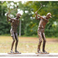 """""""COUPLE GOLFEURS"""" Bronze H 56cm & H51 cm"""