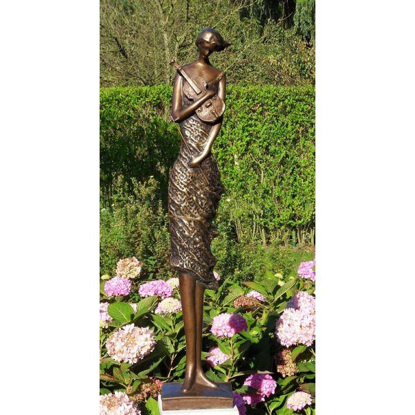 """VIOLONISTE"" Bronze H 98 cm"